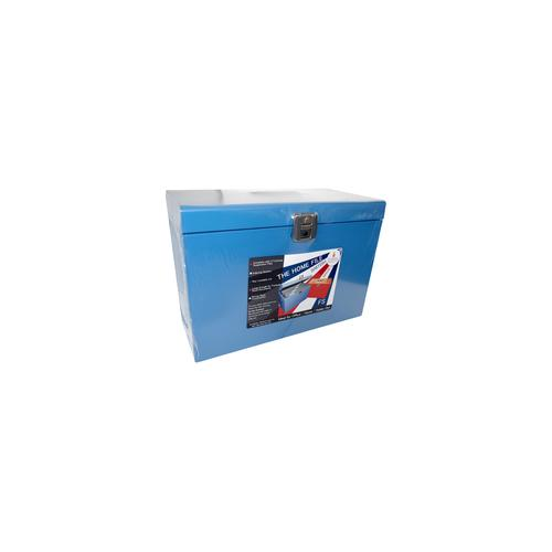 HOBL , Cathedral Metal File Box Foolscap Blue