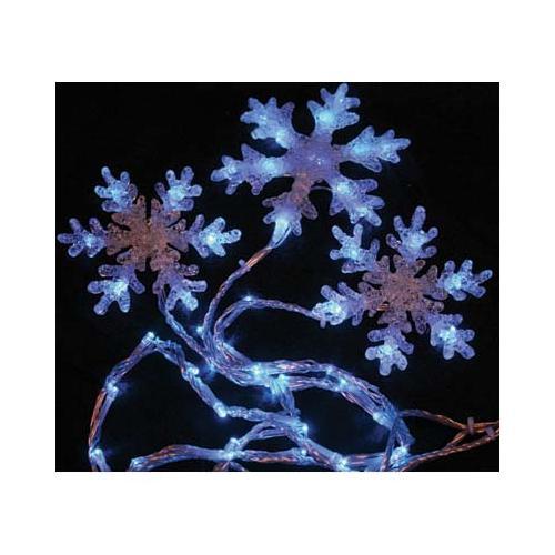 Christmas Decoration 6 x Blue LED Snowflake Lights