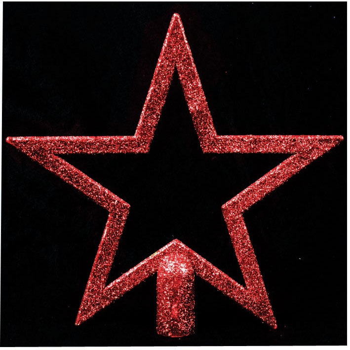 Star Tree Topper Red Christmas Decoration
