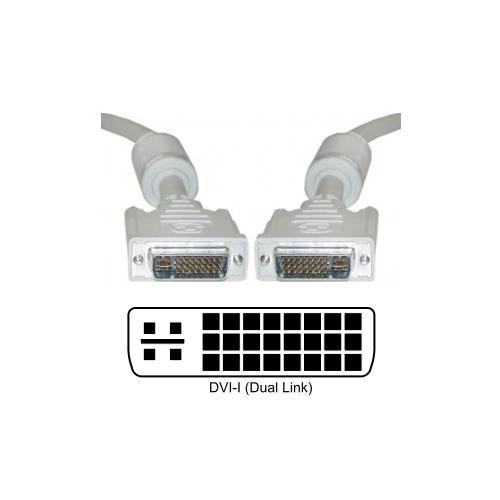DVI-I Male - DVI-I Male Dual Link Cable 5m 29 pin