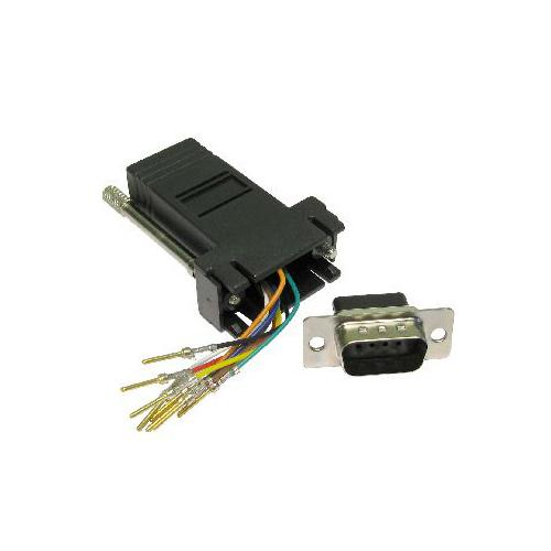 Gp212 9 Way Male Db9 To Rj45 8 Pin Socket Modular Adapter