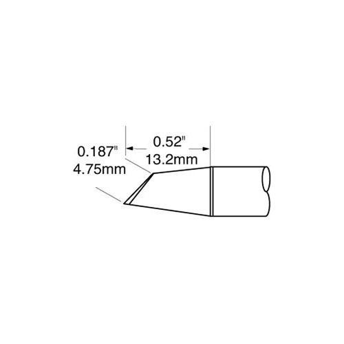 GA19700 STV-DRH440A Oki Metcal Tip, Soldering, Drag, 4mm