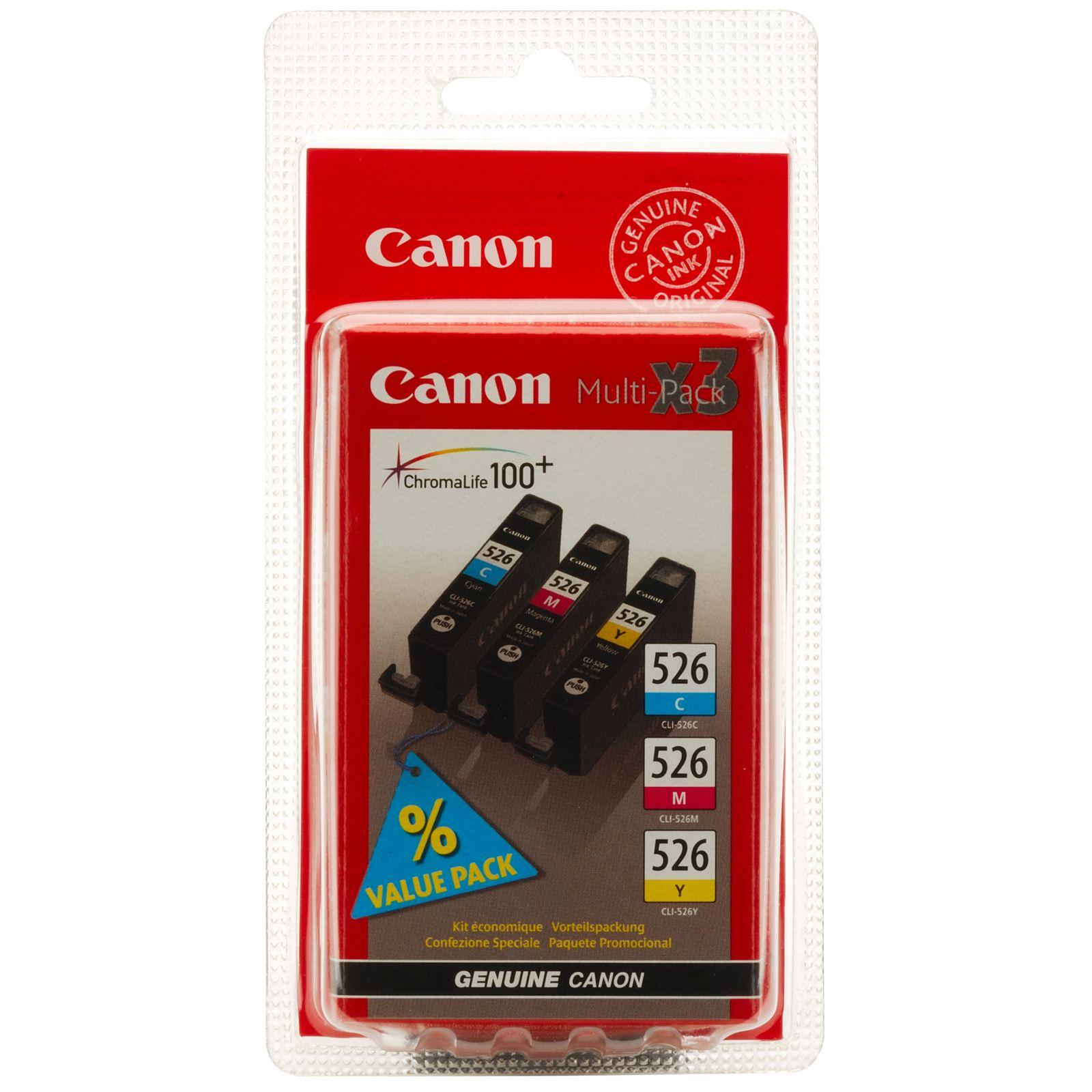 canon cli 526 c m y multipack blister colourk cartridge. Black Bedroom Furniture Sets. Home Design Ideas