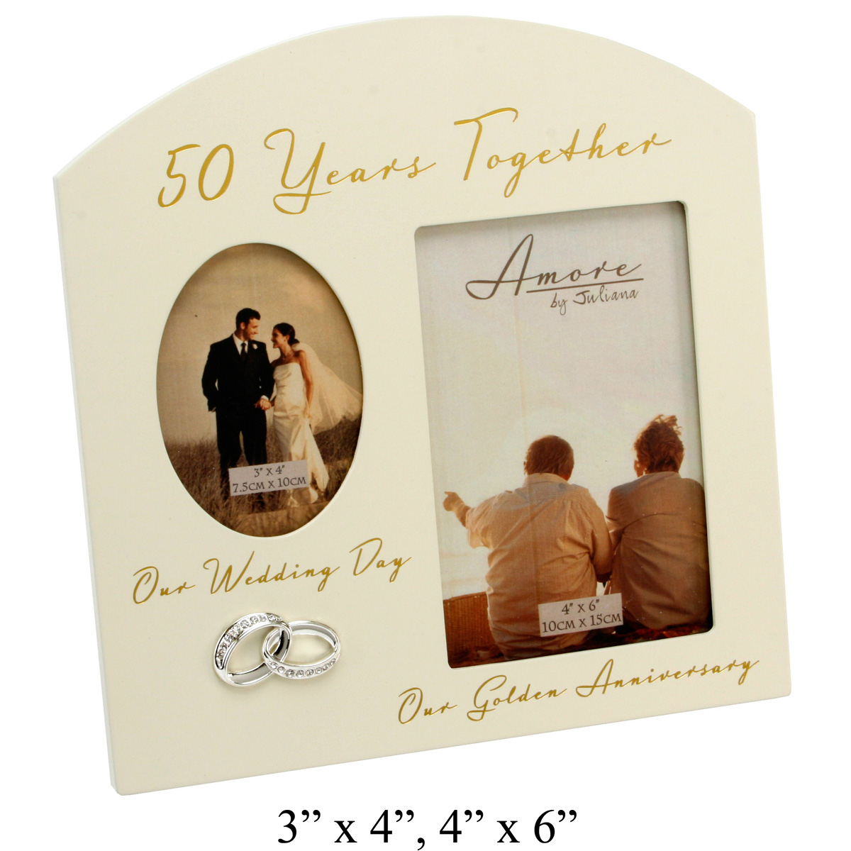 Wedding Gift Picture Frames Suggestions : ... Frames. 50th Golden Wedding Anniversary Multi-Picture Frame 6