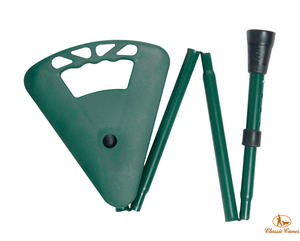 Classic Canes Folding Flipstick Height Adjustable Seat Stick in Green Preview