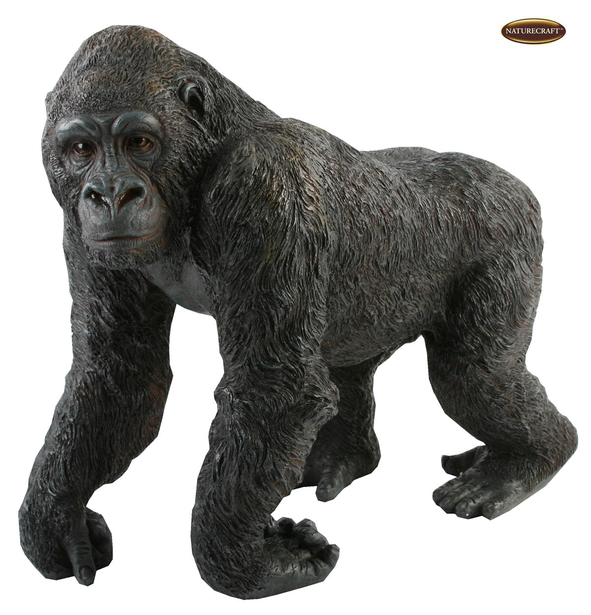 Large 14 realistic lifelike adult gorilla ornament figurine gift display statue ebay - Gorilla figurines ...