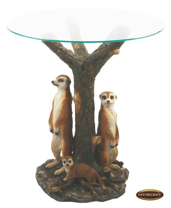 Painting Glass Table Top http://theemporiumdirect.co.uk/products/naturecraft-painted-meerkat-glass-top-table-wandbnc5029-.html