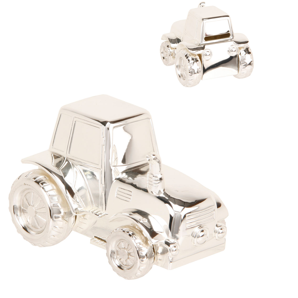 Babies Newborn Christening Gifts Silverplated Tractor