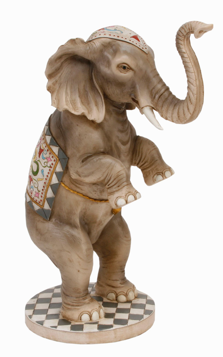 Coloured Circus Elephant Standing Ornament Juggling ...