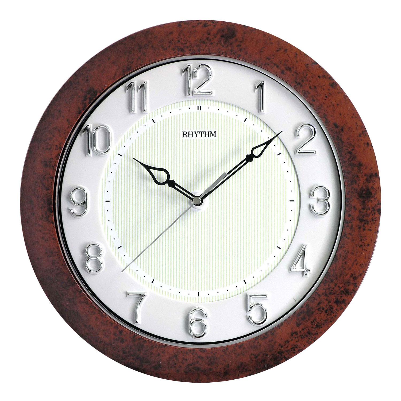 traditional rhythm wall clock silent no ticking glow in