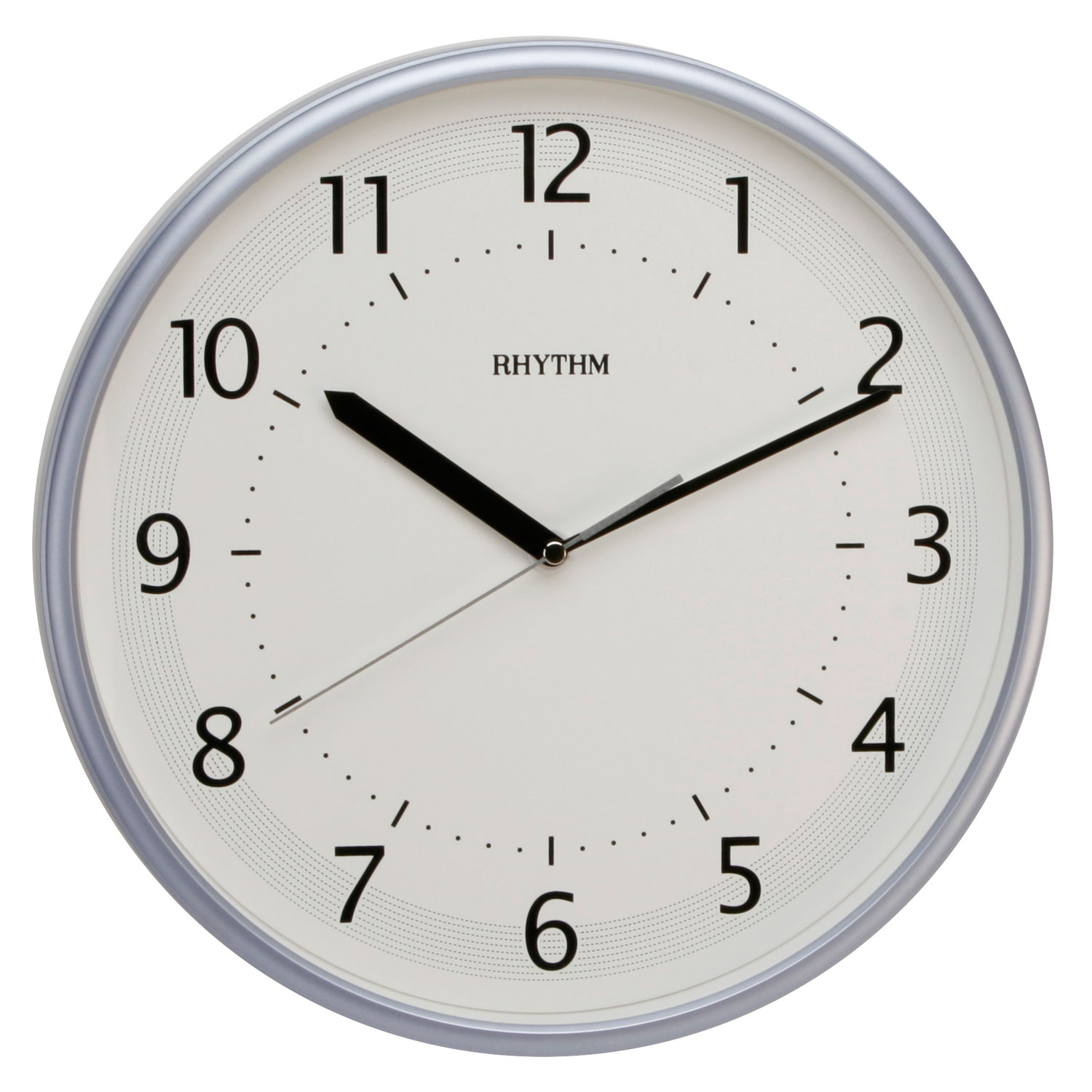 traditional rhythm wall clock silent no ticking metallic