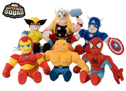 Marvel Baby Gifts Uk : Marvel super hero squad soft dolls toys figures large