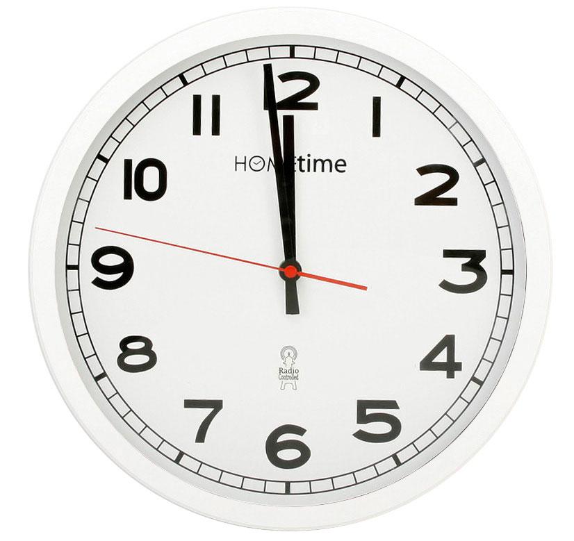 Hometime Wall Clocks Large 12 Retro White Radio