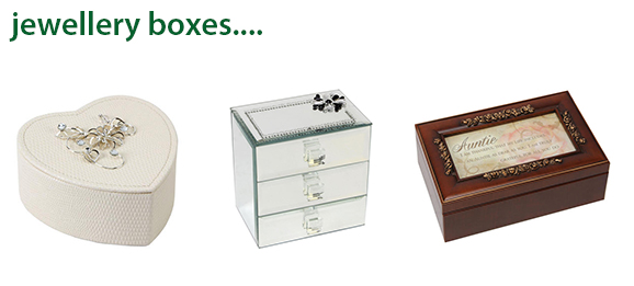 Beautiful gifts to give or receive, click here to view our range of Jewellery Boxes