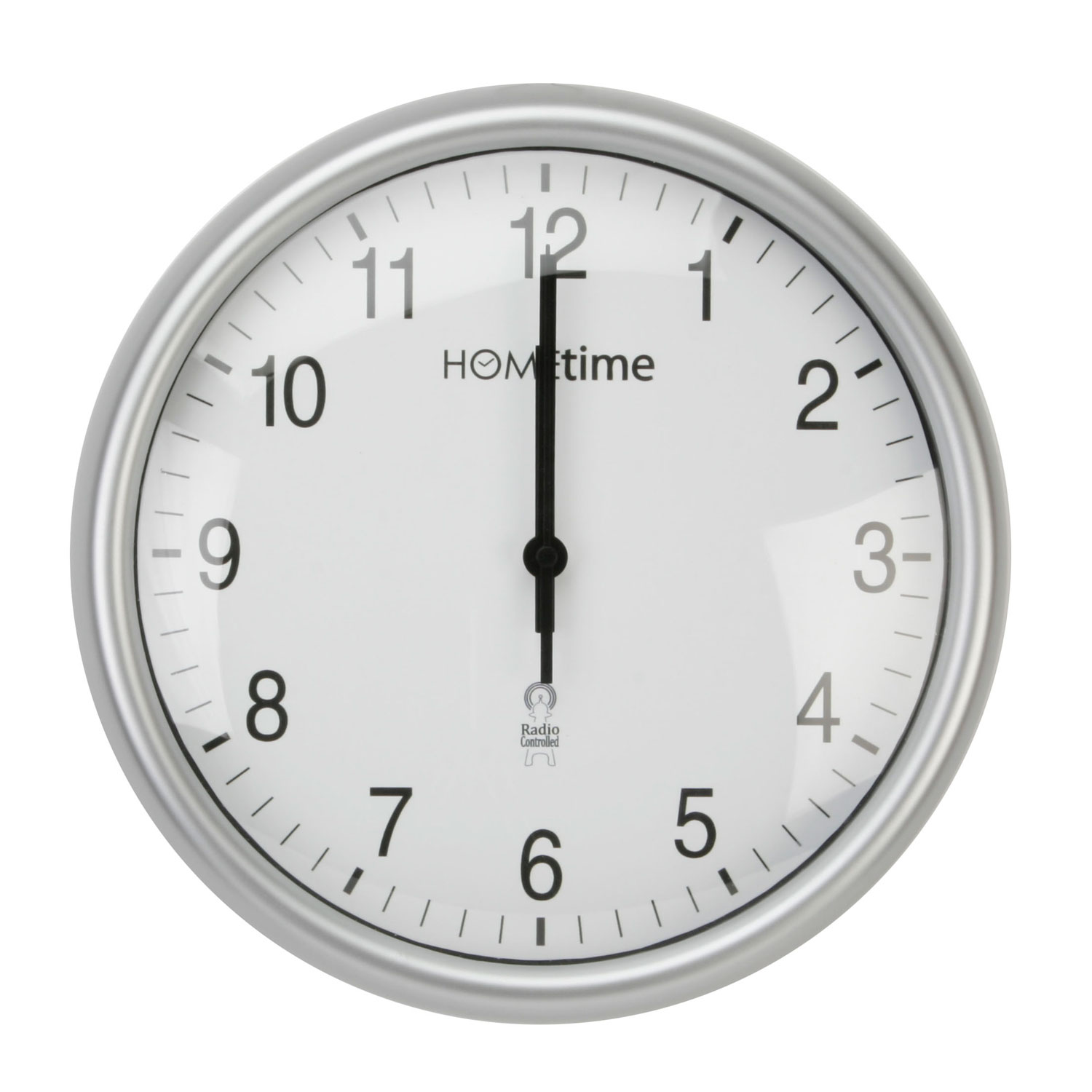 Hometime Wall Clocks Modern Urban Silver Radio Controlled