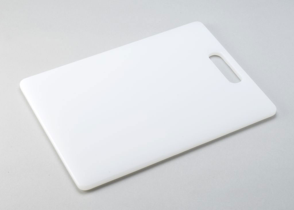 Extrusion kitchen chopping board white plastic hygienic for White cutting board used for
