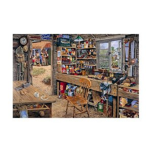 1000 Piece DeLuxe Jigsaw Puzzle - Dad's Garden DIY Shed Preview