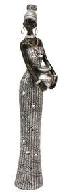 View Item Juliana Stone Finish Masai Figurine Lady 36cm