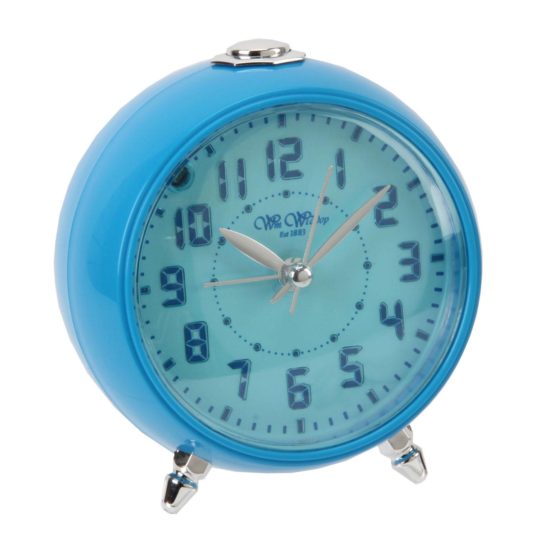 blue or pink boys girls bedroom beep alarm clock silent