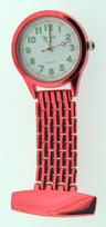 View Item Citron Metallic Red Nurses Fob Watch