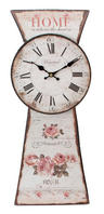 View Item Hometime Metal Wall Clock With Black Panel - Rose