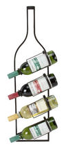View Item Metal Wall Art - Wall Mounted Wine Shaped Bottle Holder