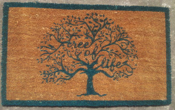 large tree of life front door mat coir outdoor porch doormat floor