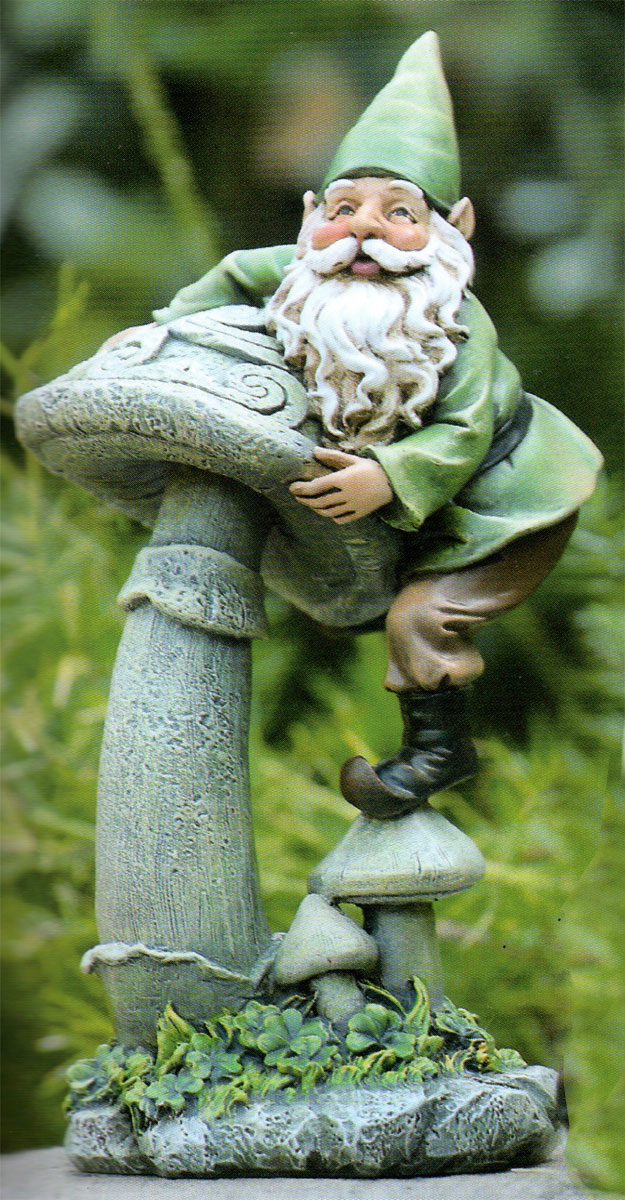 Celtic garden mushroom gnomes 3 designs traditional for Celtic garden designs