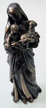 View Item Bronze Colour Madonna with Child + Lamb Sculpture