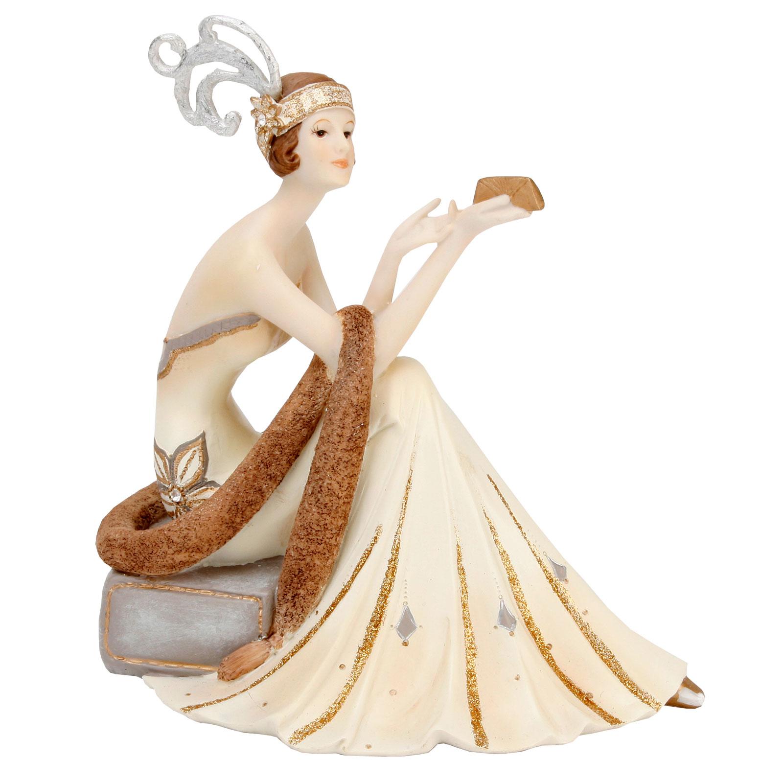 juliana art deco chicago style evening model lady figurine gift ornament statue ebay. Black Bedroom Furniture Sets. Home Design Ideas