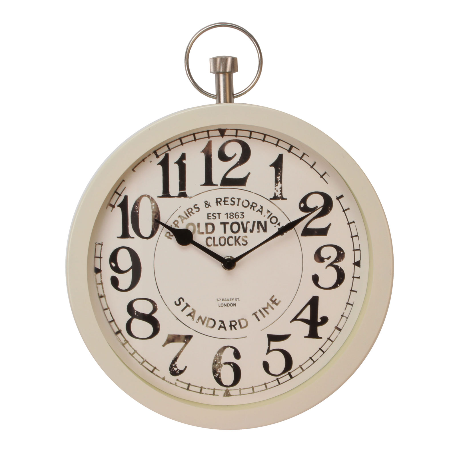 Hometime Wall Clocks Old Antique Pocket Watch Style Retro