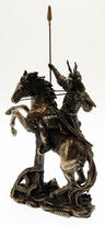 View Item Japanese Samurai Warrior On Horse with Spear Figurine