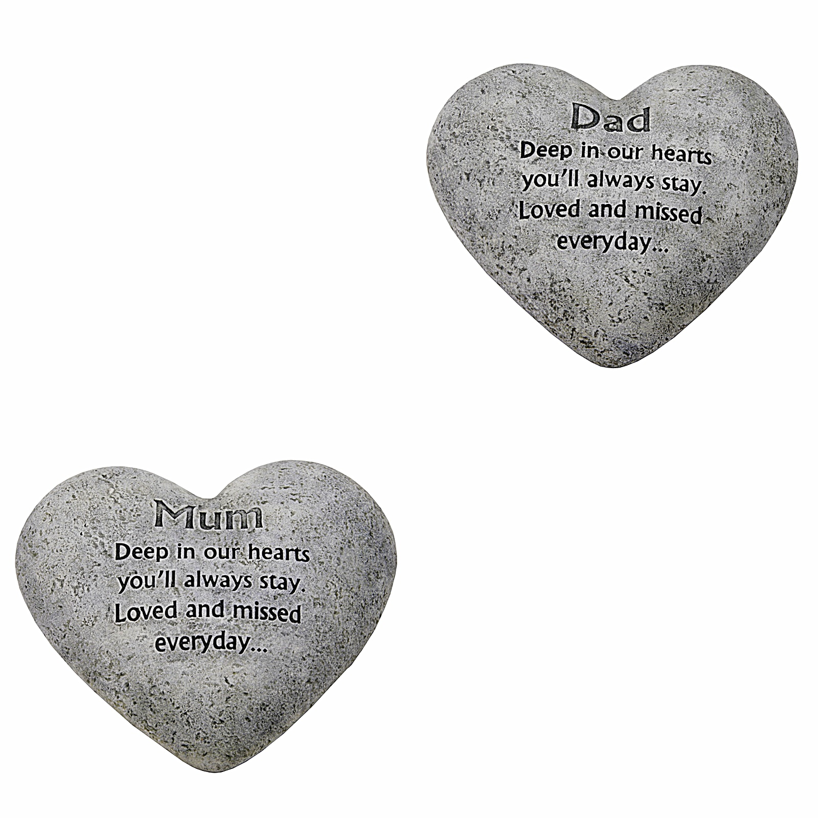 in loving memory graveside heart plaques stone mum and dad grave memorial gift ebay. Black Bedroom Furniture Sets. Home Design Ideas