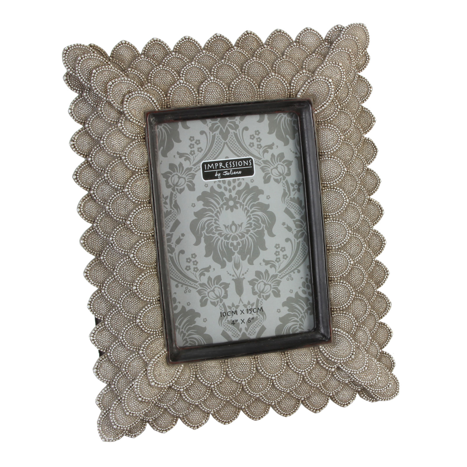 antique beige art deco baroque ornate pearls photo picture frame light gold tone ebay. Black Bedroom Furniture Sets. Home Design Ideas