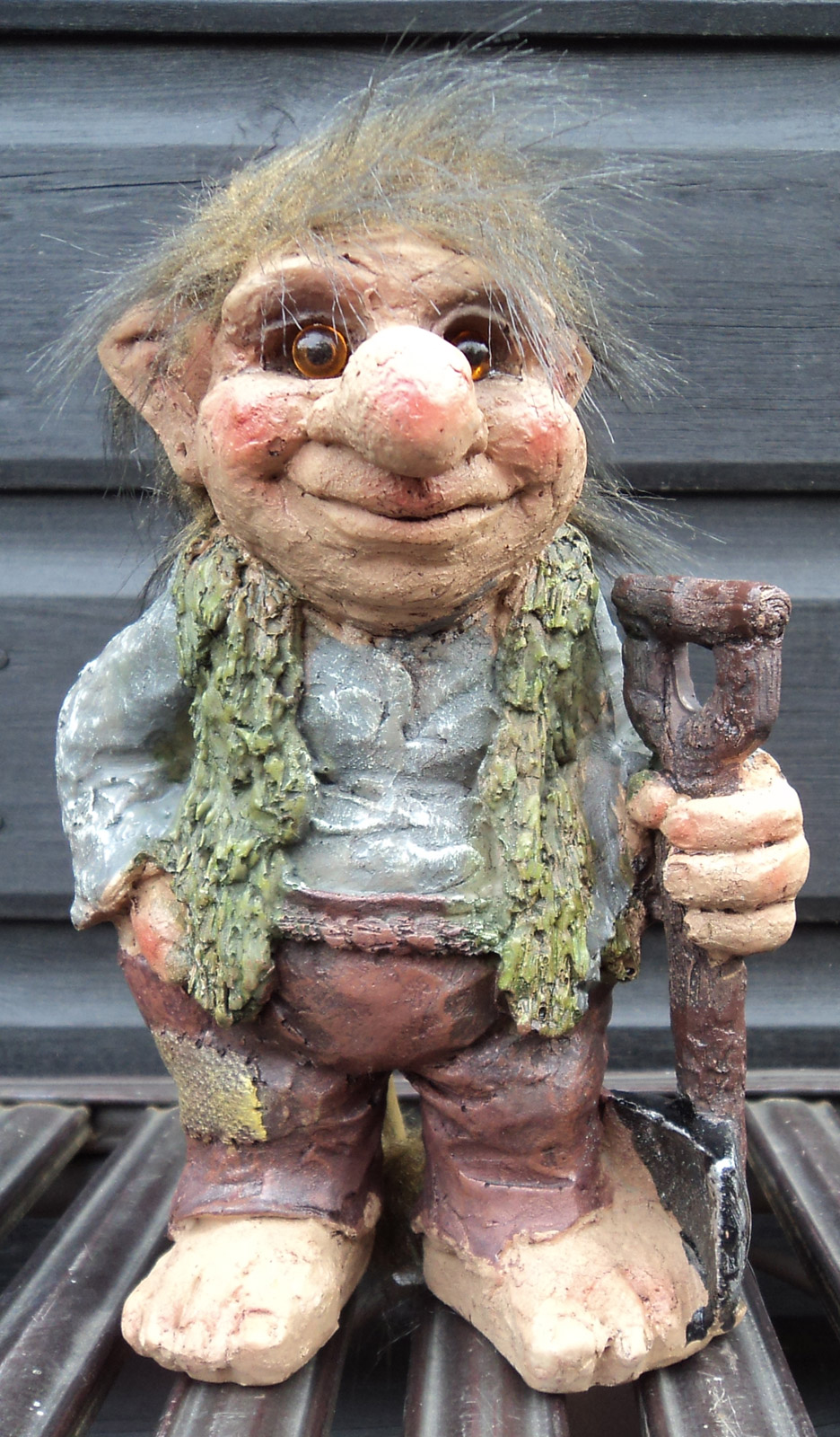 Novelty viking dam ugly troll tri gnome gift ornament for Garden trolls