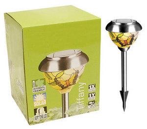Garden Solar TIFFANY Glass Light. Outdoor LED Lighting Preview