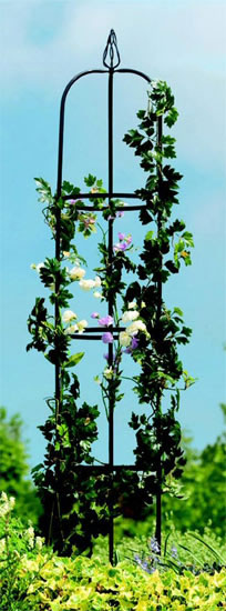 metal outdoor garden obelisk plant climbing frame ebay. Black Bedroom Furniture Sets. Home Design Ideas
