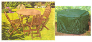 6' Foot Medium Round Patio Garden Furniture Set Cover Preview