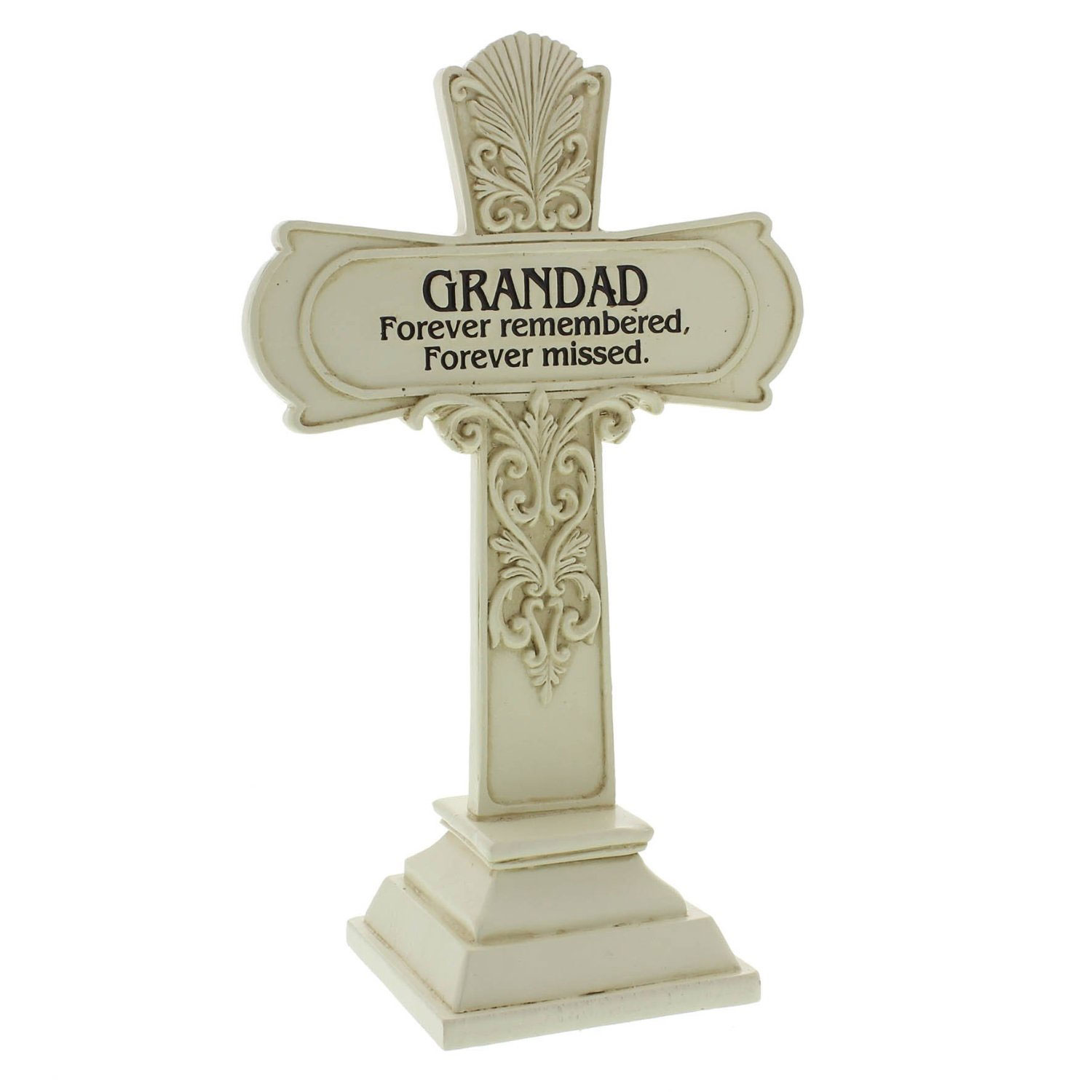 In Loving Memory Graveside Cross Memorial Plaque Grave ...