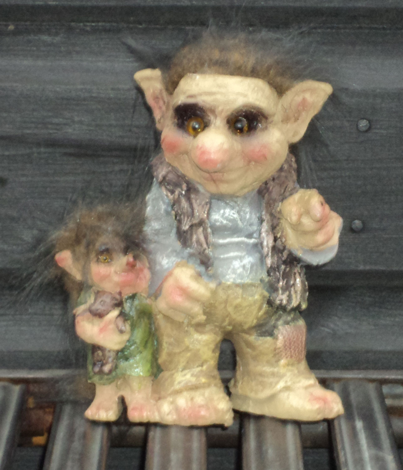 new troll family viking dam ugly gnome gift ornament