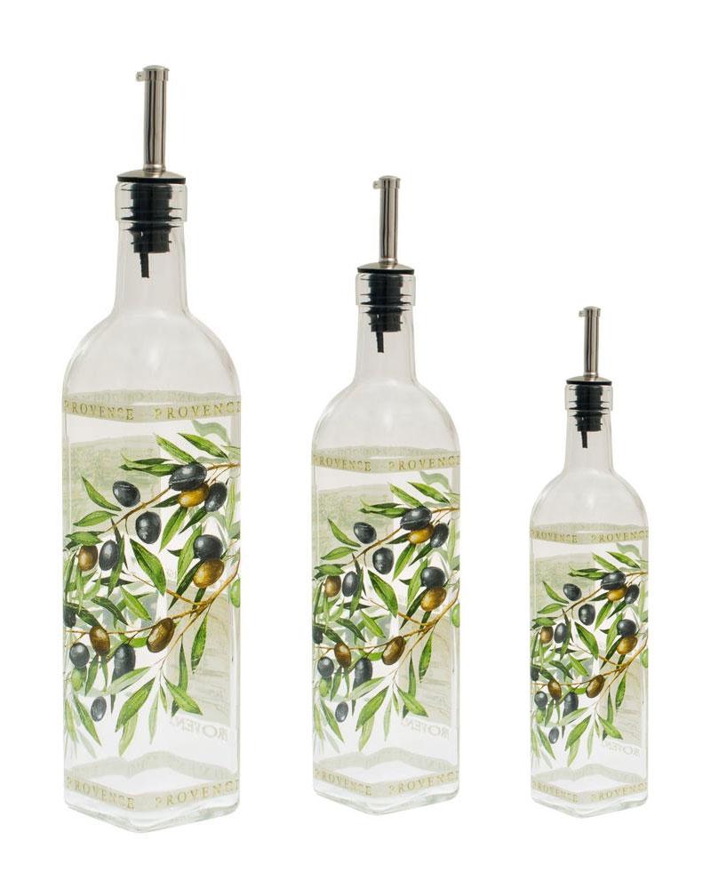 italian glass olive cooking oil vinegar bottle pourer. Black Bedroom Furniture Sets. Home Design Ideas