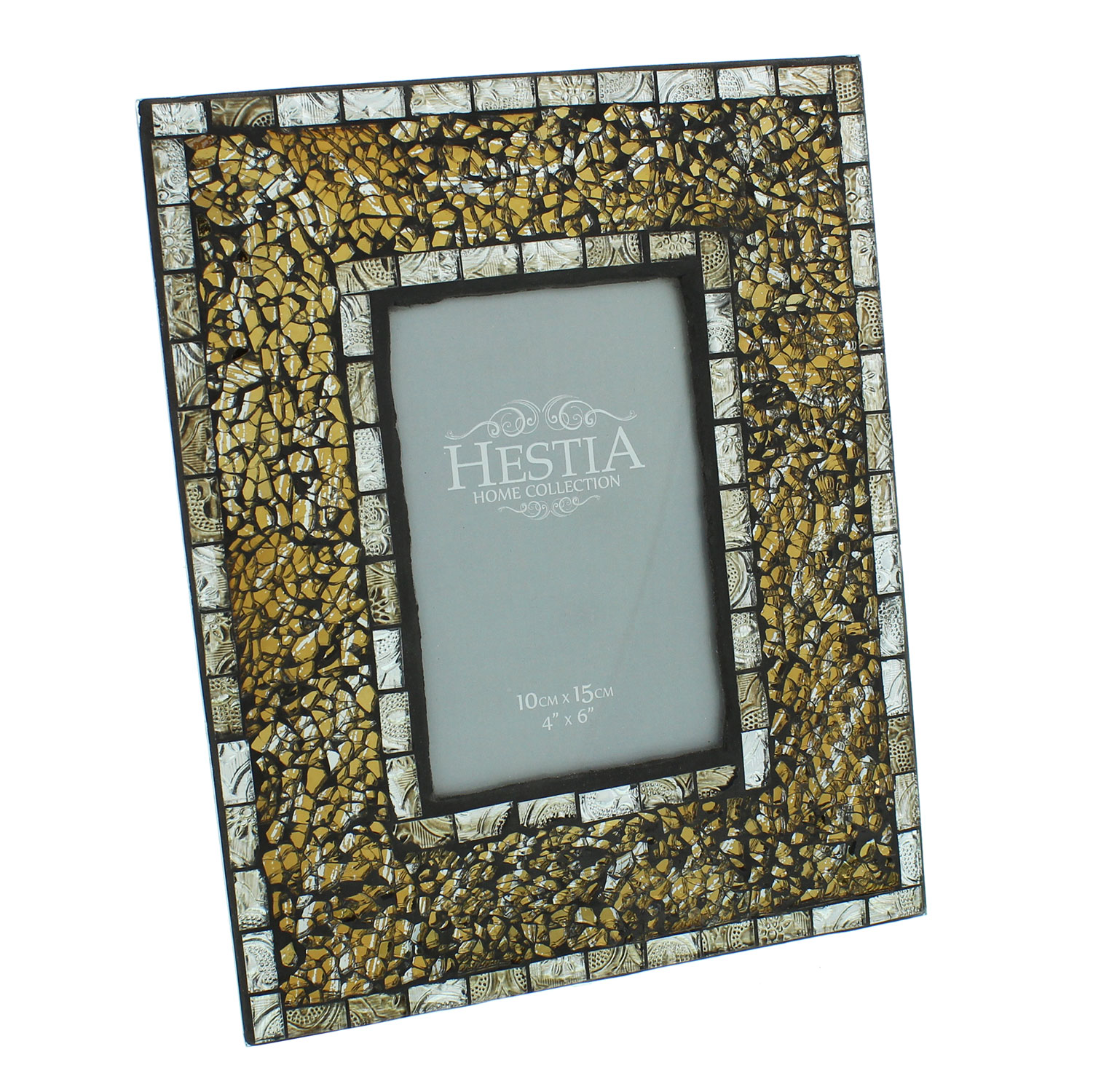 Art Deco Antique Gold Mosaic Glass Classical Vintage