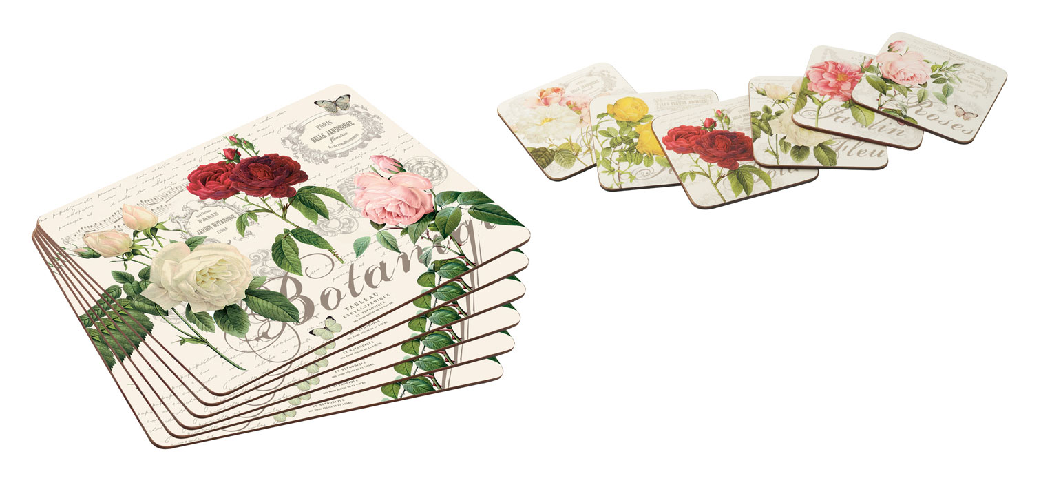 New Garden Rose Tablemats Dining Table Place Mats And