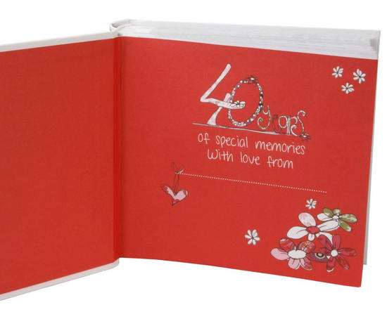 Ruby Wedding Gift Box : ... Ruby 40th Wedding Anniversary Photo Album Box Present Gift Boxed