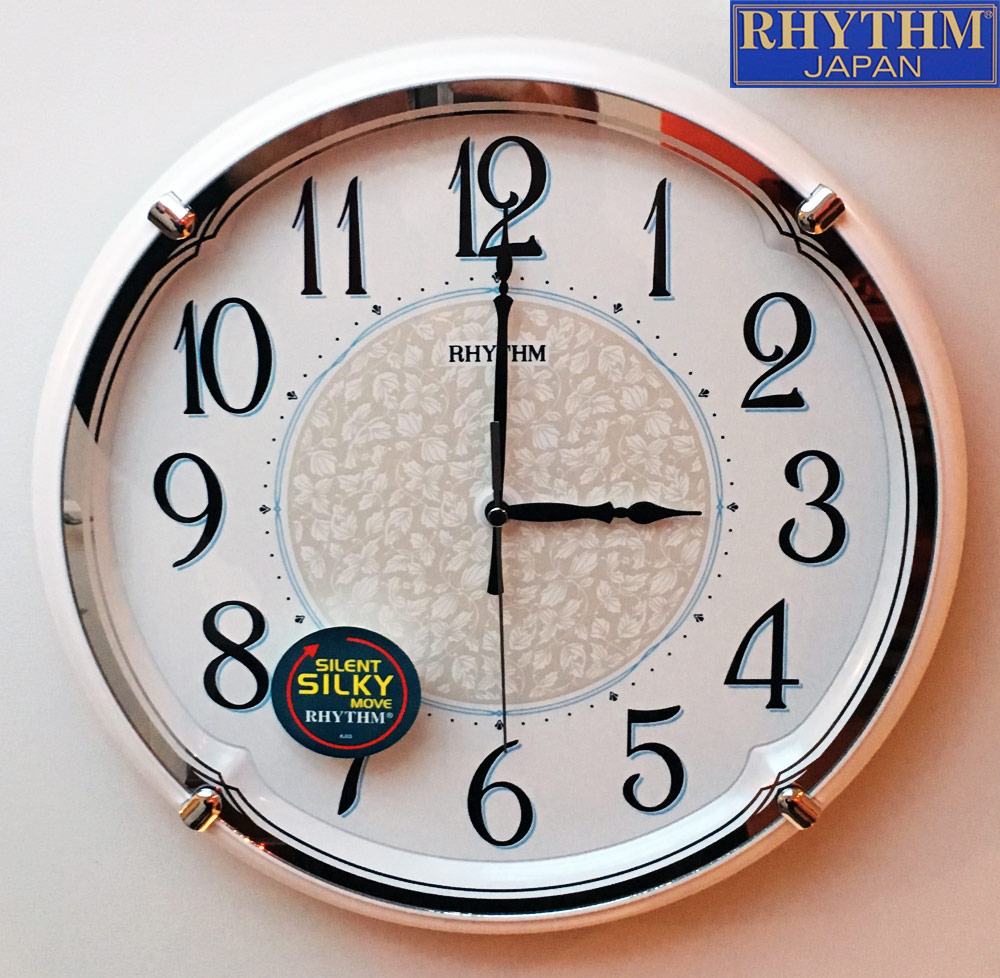new kitchen home wall clock retro pearl print arabic dial silent bedroom no tick ebay