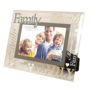 "Family Glass Glitter Photo Frame 6x4"" Preview"