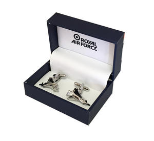 RAF Typhoon Cufflinks High Quality Official Licenced Silver Eurofighter Men Gift Preview