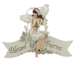 "Juliana Fairy Wishes Collection Wall Plaque ""Blessed by Fairies"" Preview"