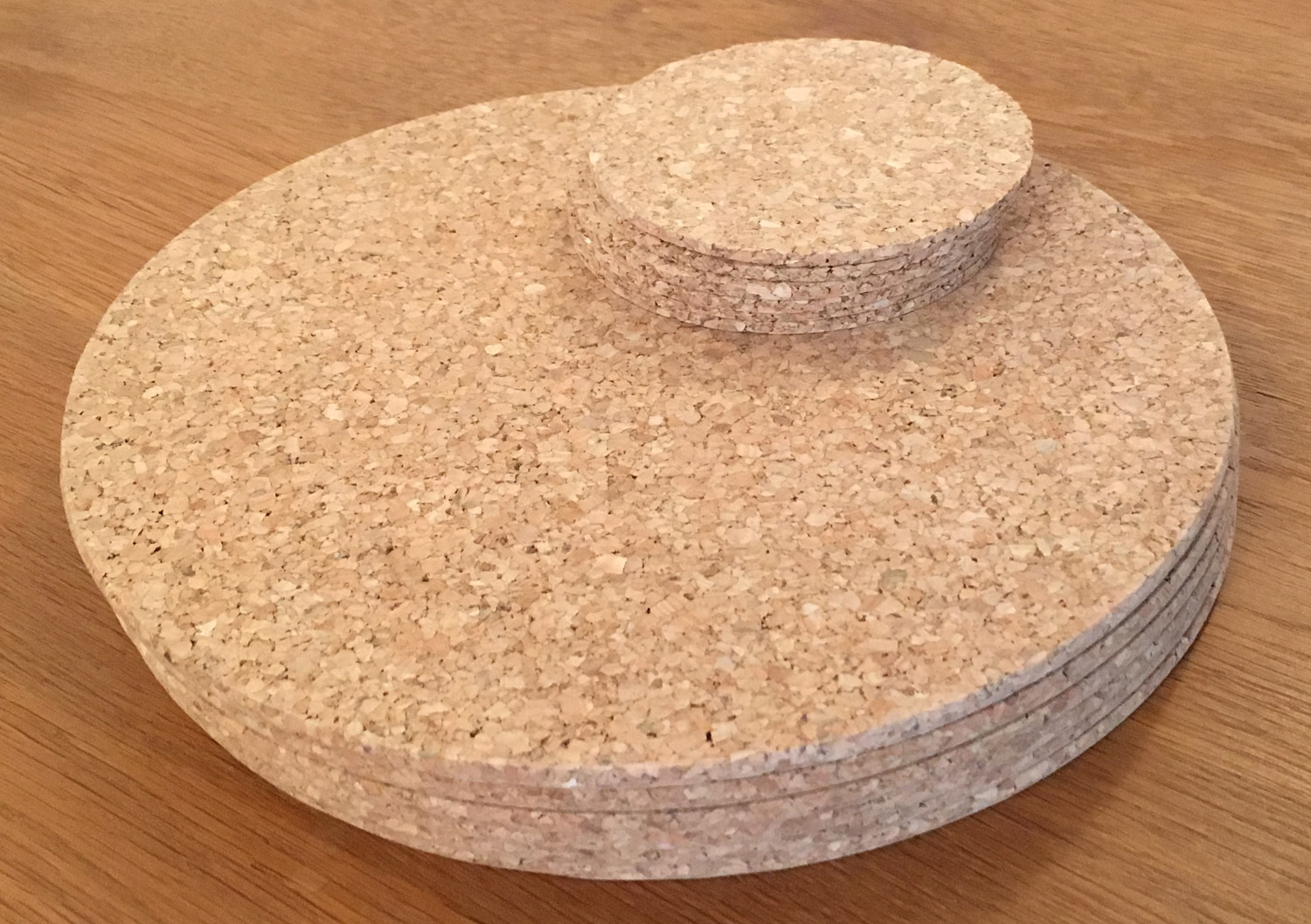 Dining table mats - Vintage Round Cork Placemats Drinks Coasters Kitchen Dining Table