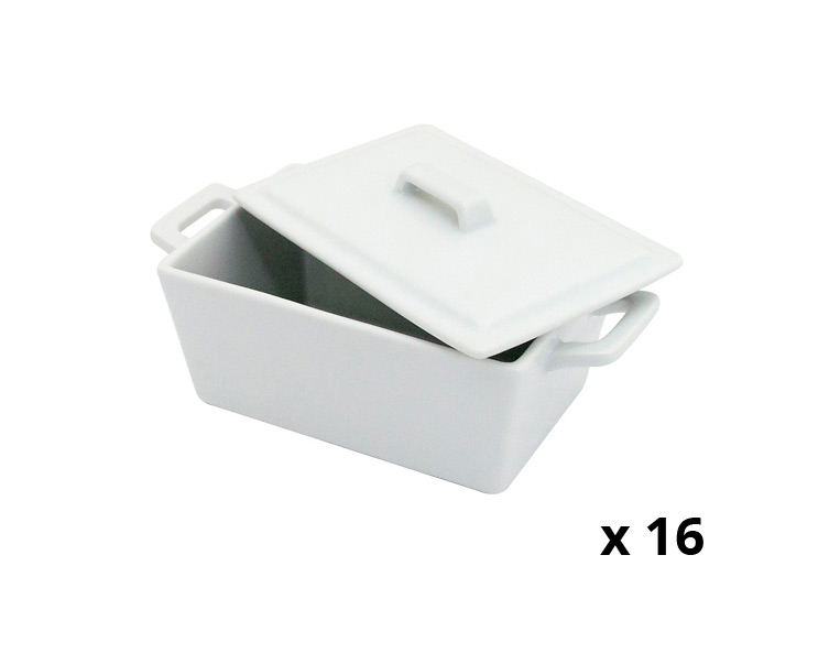 White Ceramic Rectangular Oven To Table Small Bowls
